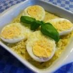 Яйца в грибном соусе